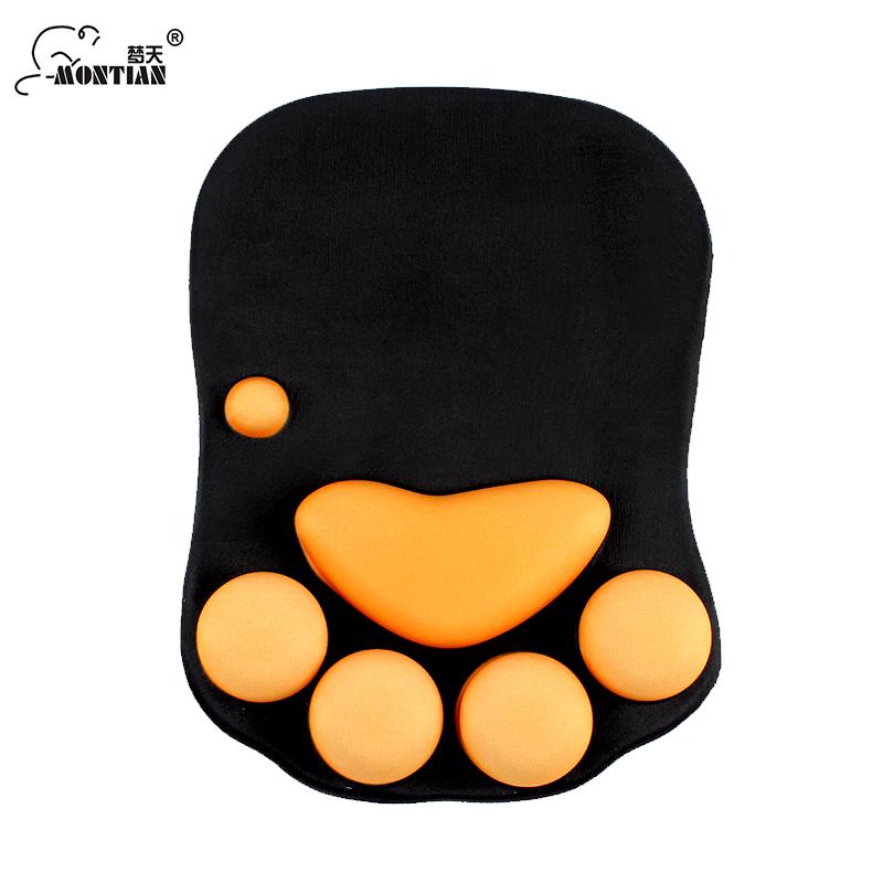 夢天矽膠鼠標墊護腕鼠墊 可愛加厚矽膠手枕貓爪肉墊防鼠標手