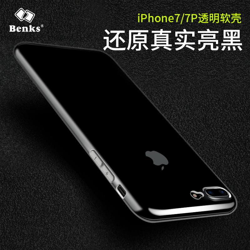 Benks iphone7plus手機殼蘋果7 Plus透明TPU矽膠殼套防摔潮男7P