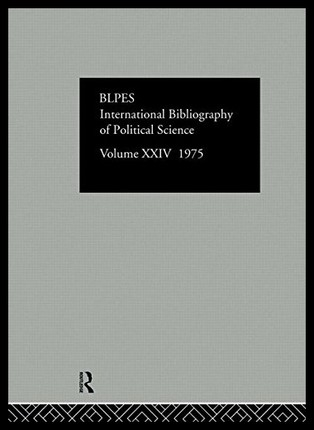 【预订】Ibss: Political Science: 1975 Volume 24