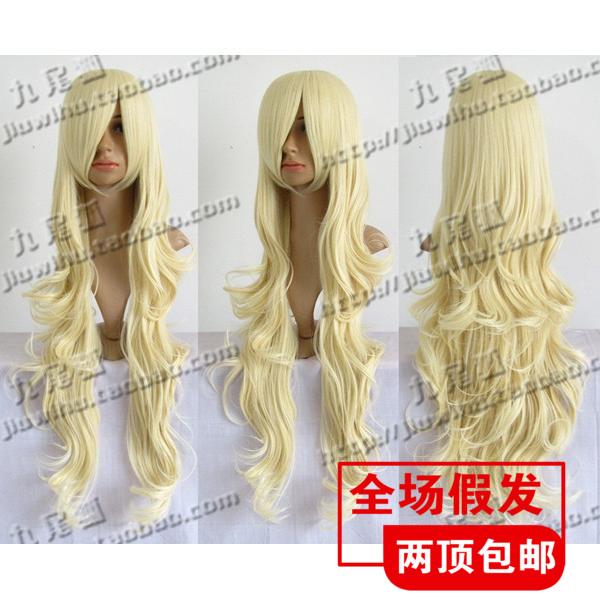 Косплей парики Золотой 100 см молоко слегка вьющиеся волосы, и Бог знает мир девяти Moonlight оригинальный парик
