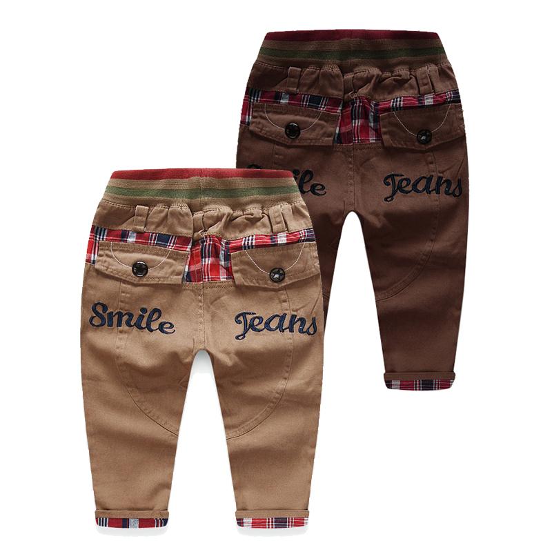 Весна 2016 Корейский новый плед мальчиков baby ребенка Детская одежда длинные брюки случайных брюки, толстые kz-2138