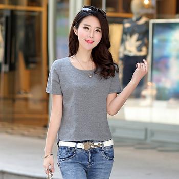 2019韩版夏季短款t恤女短袖体恤打底衫新款百搭女装宽松时尚上衣