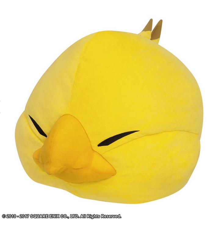 日本代购 SE 最终幻想14 FF14 周边肥胖陆行鸟立体可爱玩偶抱枕