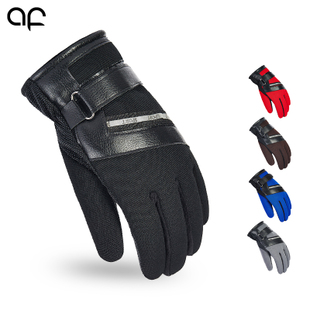 Di Europe where thick winter gloves warm wind letter M sports leather gloves motorcycle riding rider