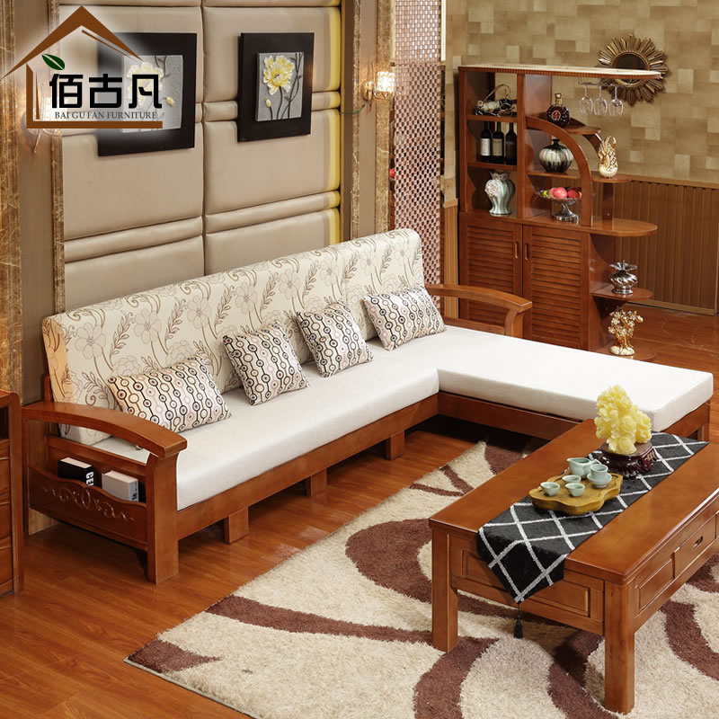 bois massif canap salon sectionnel expansion tissu chinois simple et moderne canap coin canap. Black Bedroom Furniture Sets. Home Design Ideas