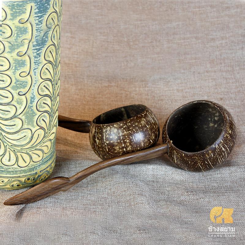 Таиланд ручной работы кокосовые волокна ложка чайная церемония совок вода вода ложка вода ковш чай комната пассажир стек отели ложка