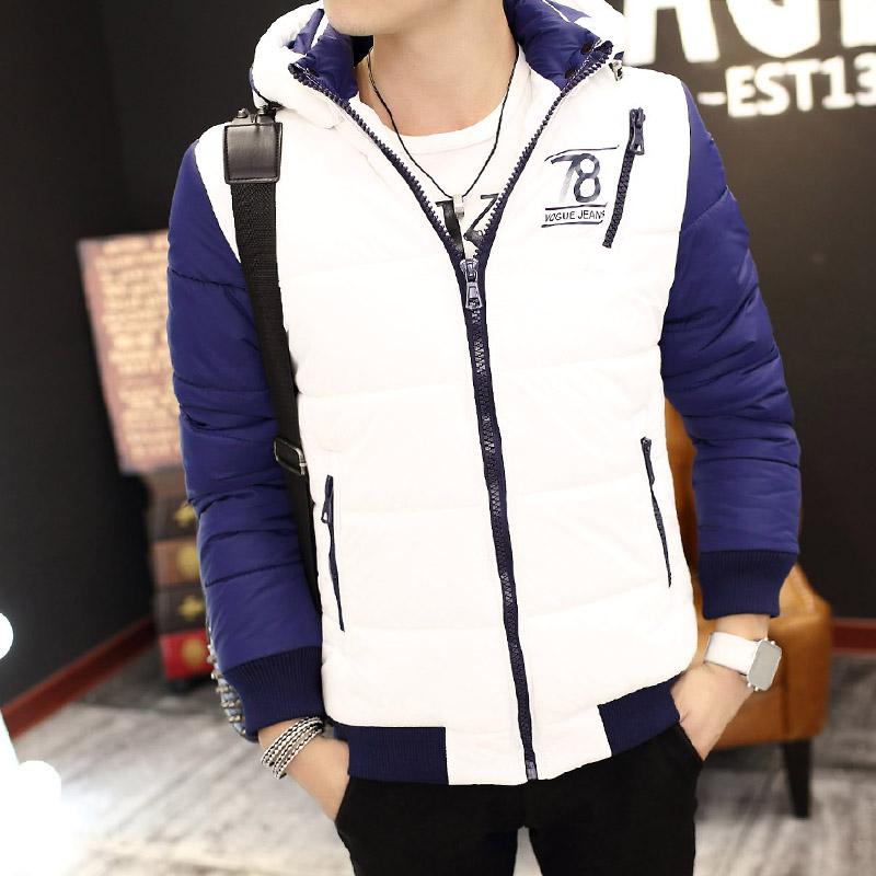 Мужская зимняя мужская одежда хлопка проложенные одежду, которую корейский молодой тонкий Купированные хлопка мягкий куртка вниз пальто мужчин
