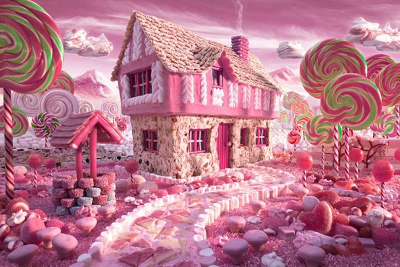 5D魔方圓貼鑽畫鑽石十字繡 棒棒糖世界卡通糖果屋臥室方鑽滿鑽
