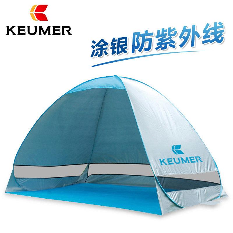 KEUMER автоматический палатка скорость открыто на открытом воздухе затенение песчаный пляж палатка солнцезащитный крем рыбалка палатка один двухместный размещение парус