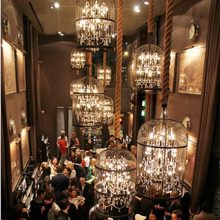 特价美式复古鸟笼铁艺水晶宜家客餐厅酒吧KTV工程服装店别墅吊灯