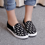 Canvas shoes women shoes, spring 2016 new Korean version of flat cloth a pedal lazy shoes flats casual shoes wave