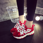 2015 Korean version of the new round of winter sports and leisure shoes women's shoes running shoes and thick warm student women's shoes at the end of the tide