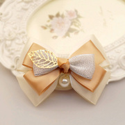Colorful grid (accessory) Ribbon Butterfly first ornament Barrette hair clip jewelry flower Korea headdress A0133