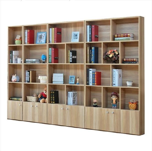 简易书架带门格子书柜简约现代自由组合置物收纳客厅储物书橱