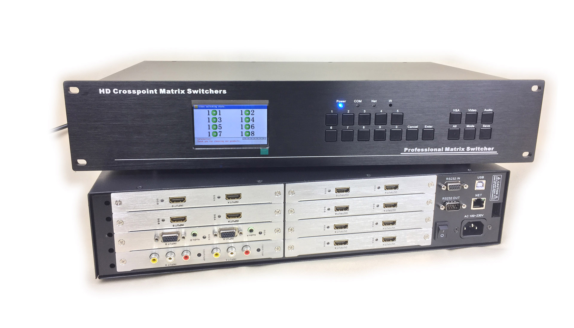 Бесшовный смешивать квадрат передний 8 продвижение 8 из 4 продвижение 4 из звук видео конференция главная эвм HDMI/DVI/VGA/AV смешивать вставить