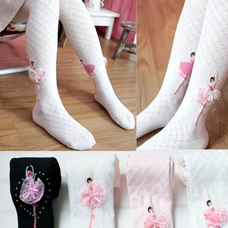 春秋夏款純棉加厚兒童打底襪褲女童大童連褲襪寶寶白色舞蹈襪