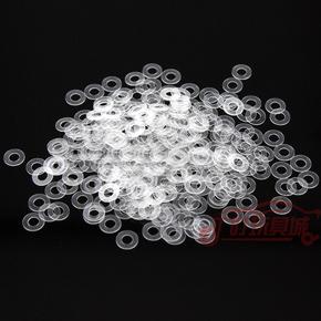 自制田宫四驱车改装配件 马达转垫片 电机轴垫片 透明/黑色 10片