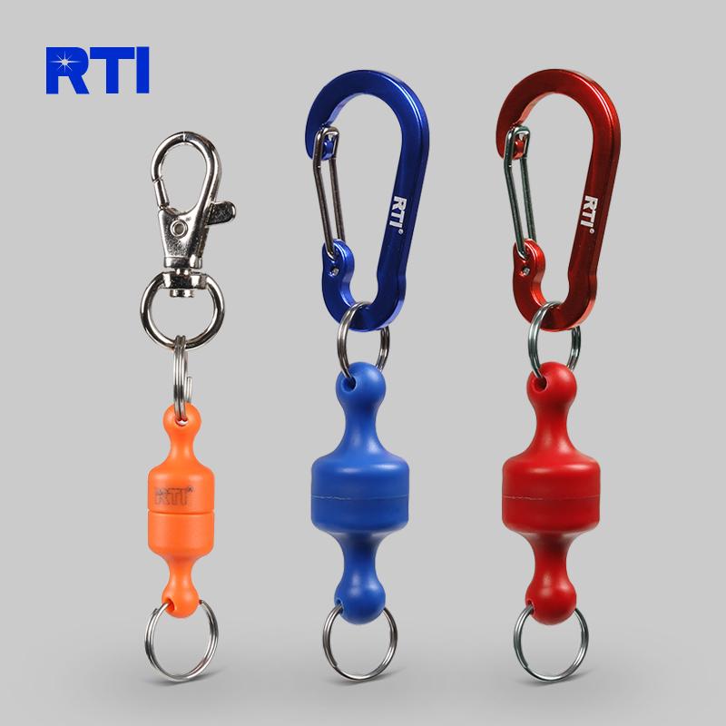 RTI新品磁性掛件磁鐵防丟失小 1.8kg強磁力垂釣釣魚掛扣