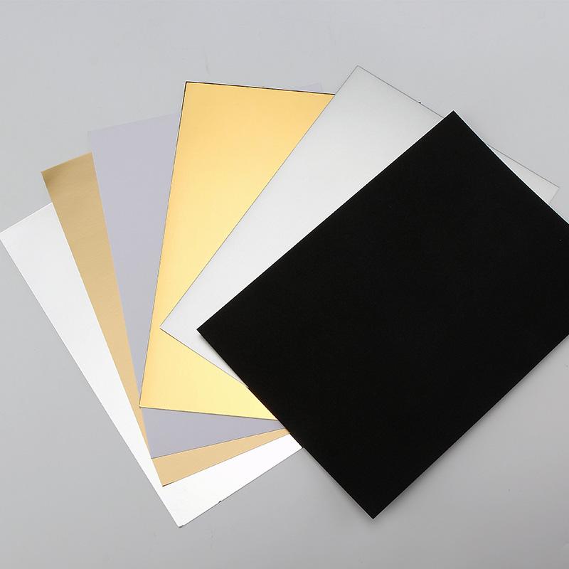 摄影金银黑白卡纸 A4背景反光板补光亮面哑光吸光勾边用