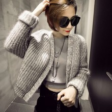 The new Europe and the United States in the fall of 2015 vintage long-sleeved cardigan sweater knit short coat loose joker woman show thin