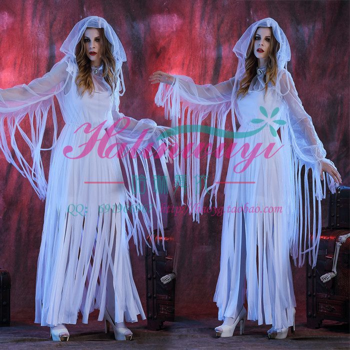 Halloween Costume female role play Cosplay horror sexy show thin ghost bride adult vampire clothes
