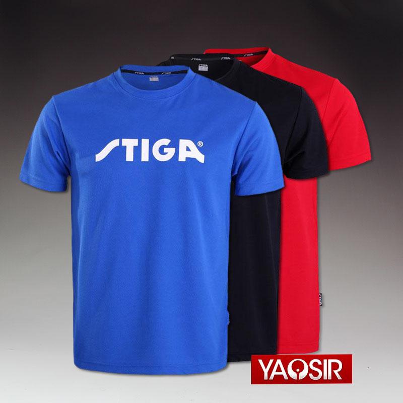 Стига настольный теннис одежда STIGA Fan трясти восток конкуренция одежда короткий рукав униформа обучение одежда мужской и женщины настольный теннис одежда