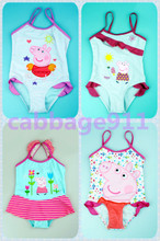 Foreign trade authenticity pepe peppa pig pig l children one-piece girls bathing suit girl swimsuit