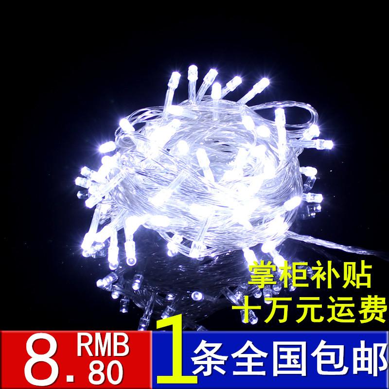Светодиодные фонари мигать огни лампа водонепроницаемый фары огни украшение свадьбы белый светодиодные строки огни Рождество зажигает звезды