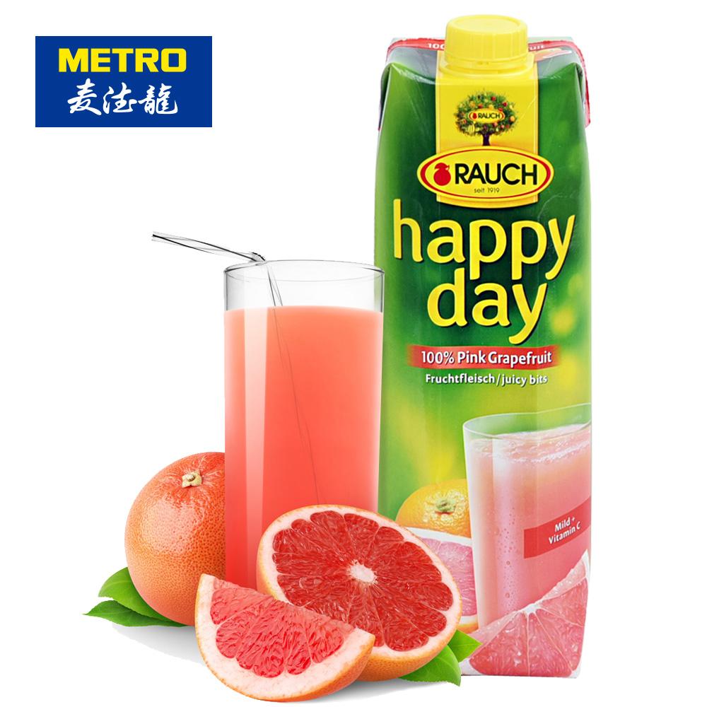 ~天貓超市~麥德龍 奧地利 幸福時光西柚汁^(含果肉^) 1L 盒