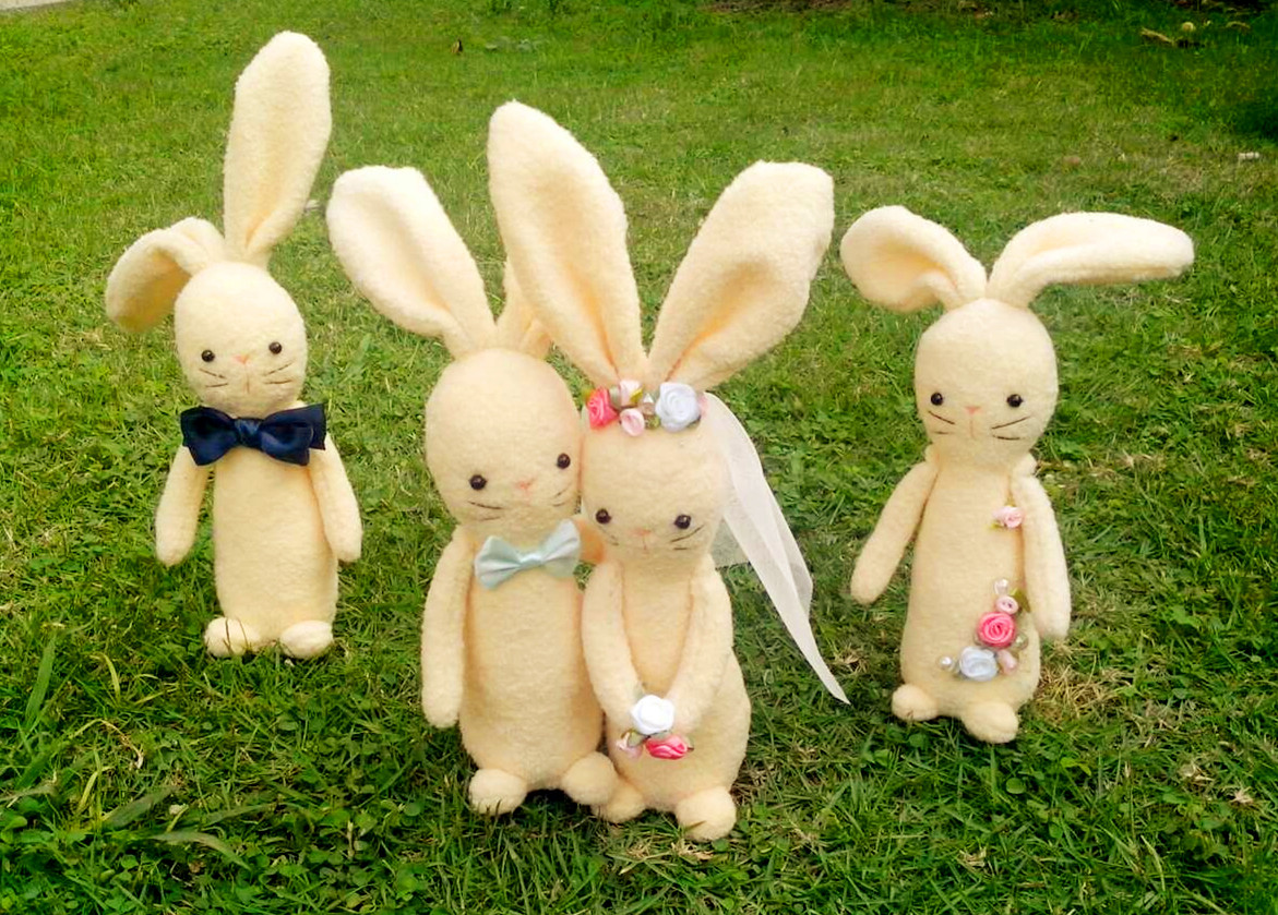 Baomuzi original handmade doll material bag DIY rabbit puppet today you are going to marry me
