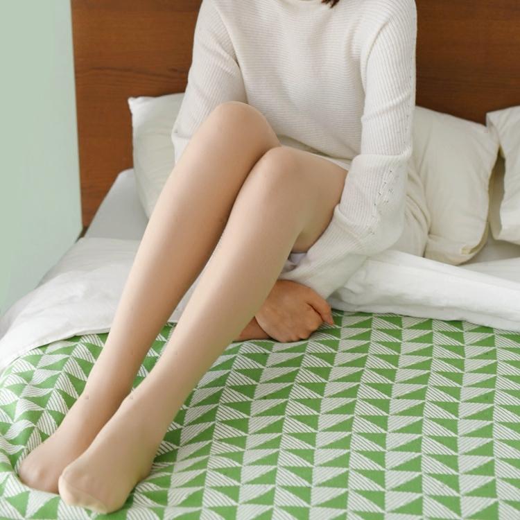 米图加绒光腿连裤袜神器秋冬季加厚款肉色双层假透肉裸感打底袜女