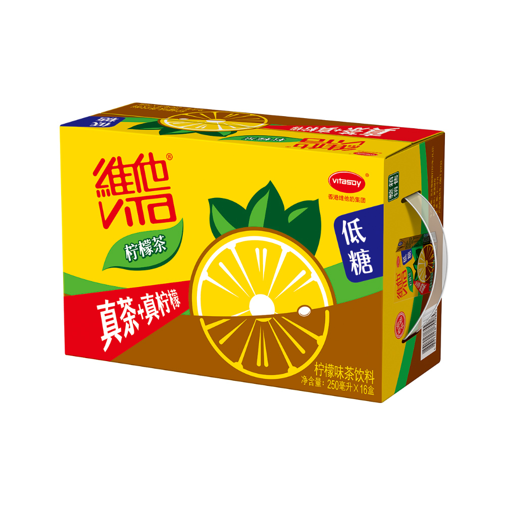 ~天貓超市~維他 低糖檸檬茶250ml^~16盒 箱 真茶 真檸檬 維他奶