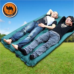 骆驼品牌高级双人自动充气垫  3CM加厚双人充气垫 户外情侣充气垫
