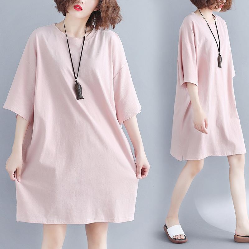 大码萝莉女装200斤小心机上衣胖mm夏季韩版减龄中长款短袖T恤显瘦