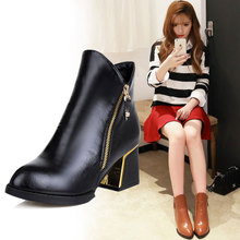 British documentary short boots boots in the wind of new fund of 2015 autumn winters is high and short boots with side zipper boots boots