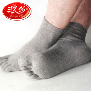 10 pairs Langsha genuine combed cotton socks for men and women health toe socks toe socks padded spring manufacturers wholesale