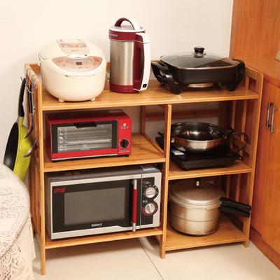 楠竹子厨房电器置物架微波炉架储物架烤箱架层架收纳架玩具架