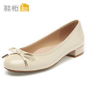 Shoebox shoe spring sweet bow light shoes wig foot thick low casual shoes