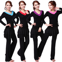Kiss slave square dance dance clothing new suit suits to dance Latin dance long sleeve blouse culottes lady in the spring and autumn