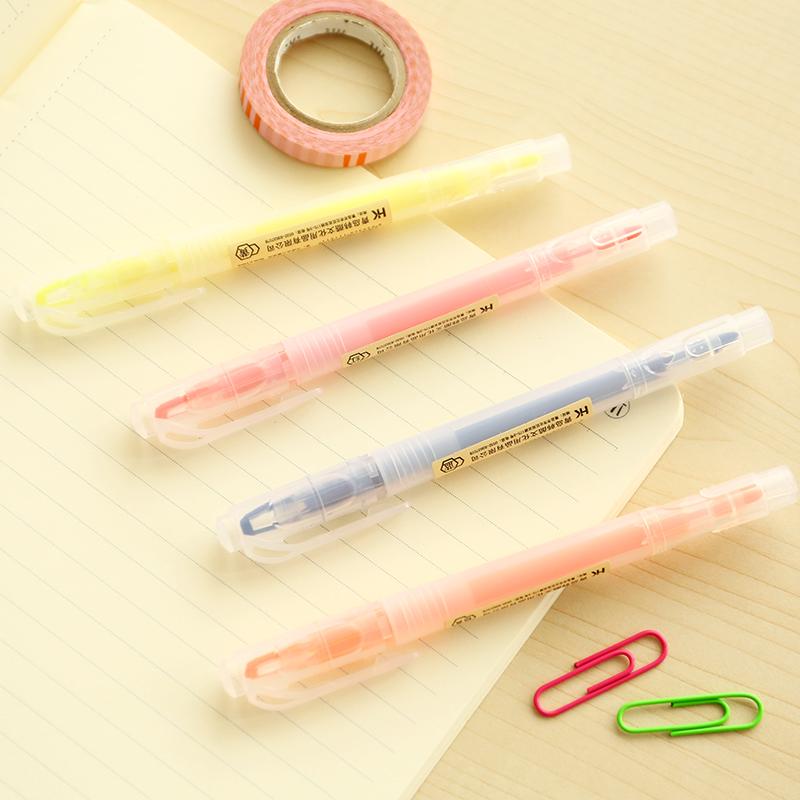 三年二班●韩国文具 亚克力双头荧光笔 学生彩色涂鸦笔办公标记笔