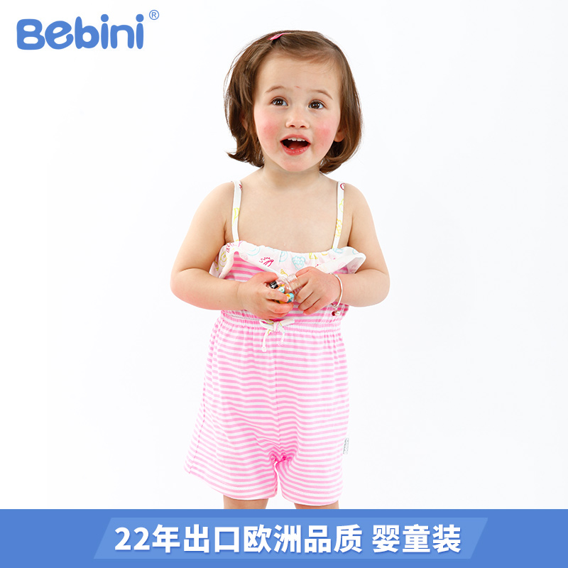 Girls all in one pants summer clothes childrens bra suspenders girls Pure Cotton Floral jumpsuits new summer 2018