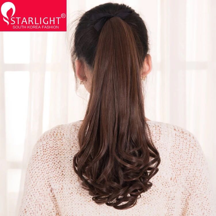 Мисс парик свиток волосы бандаж стиль груша ложный хвощ лесной большие волны бесшовный передавать лист парик