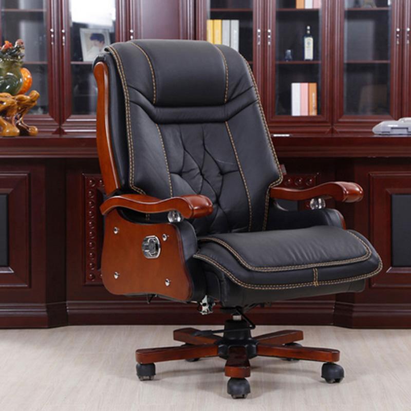 办公家具老板椅大班椅转椅可躺电脑椅高档皮艺椅实木脚椅简约现代