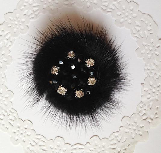 Ручной DIY Сладкая Корейский колесо Diamond ювелирные изделия волос брошь Hat Леди Аксессуары