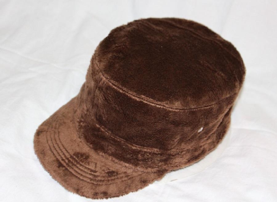 帽子大王信誉M-096韩版珊瑚绒情侣或父子军帽平顶帽女帽男帽外贸
