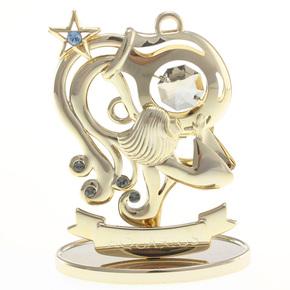 水瓶座幸运星(金色)星座水晶居家车饰摆件 生日圣诞情人节礼物