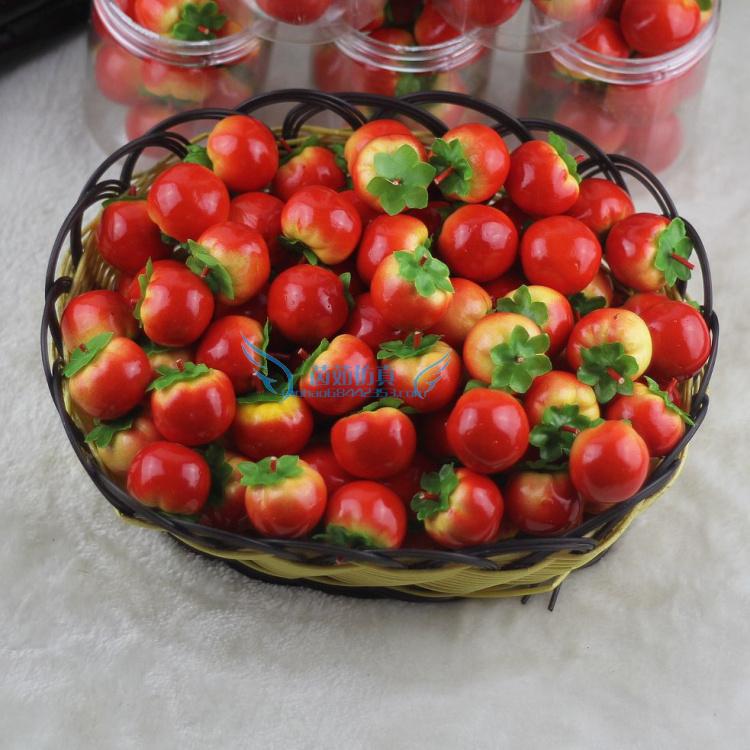 仿真迷你水果蔬菜小番茄 假西红柿模型 店铺装饰品 教学拍摄道具