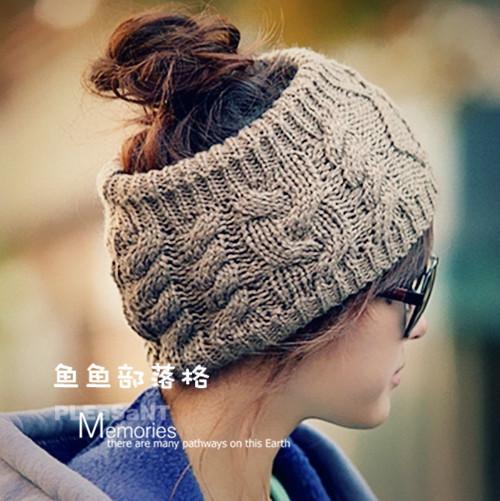 Части пакета mail Европа и Япония-Корея широкий волосы группа оголовьем шарф шерсти волос ручной работы дамы твист Топ