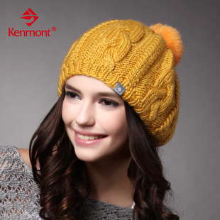 Carmon cap winter hat female autumn and winter days wool hat Korean tidal fashion handmade hat knitted hat ear cap beret