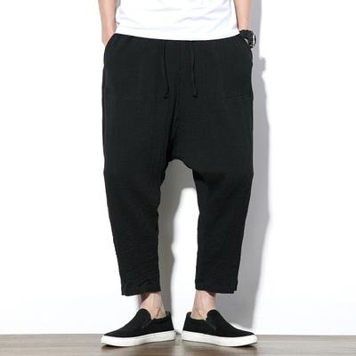 2017新款秋装 中国风宽松大码跨裤九分裤 K9903 P50 最低卖68